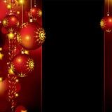 Weihnachtshintergrund mit Flitter und Sternen Stockbild