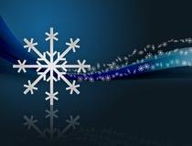 Weihnachtshintergrund mit Flocken stockfotos