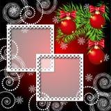 Weihnachtshintergrund mit Fotofeld Stockbild