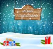 Weihnachtshintergrund mit Geschenk Lizenzfreies Stockbild