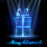 Weihnachtshintergrund mit Geschenkkasten Lizenzfreies Stockfoto