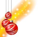 Weihnachtshintergrund mit Kugel Stockbilder