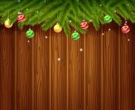 Weihnachtshintergrund mit Kugel Stockfoto