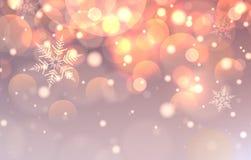 Weihnachtshintergrund mit Leuchten Vektor Abbildung