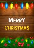 Weihnachtshintergrund mit Leuchten Lizenzfreies Stockbild