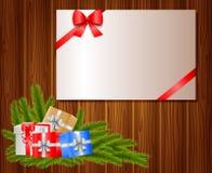 Weihnachtshintergrund mit Papierauto Lizenzfreie Stockfotos