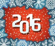 Weihnachtshintergrund mit Papierflocken Stockfoto