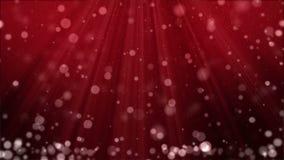 Weihnachtshintergrund mit Partikeln und Scheinwerfern stock footage