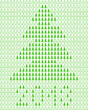 Weihnachtshintergrund mit Pixel Weihnachtsbaum. Lizenzfreies Stockfoto