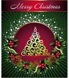 Weihnachtshintergrund mit Platz für Ihren Text Stockfotografie