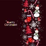 Weihnachtshintergrund mit Platz für Ihren Text Stockbild