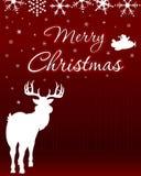 Weihnachtshintergrund mit Ren Stockbild