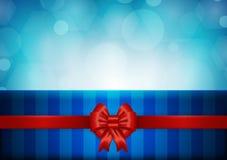 Weihnachtshintergrund mit rotem Farbband Stockfotografie