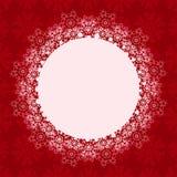 Weihnachtshintergrund mit rundem Platz Stockfotos