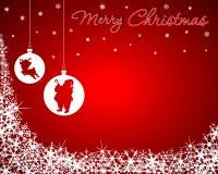 Weihnachtshintergrund mit Sankt- u. Schätzchen-Ren Stockbilder