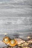 Weihnachtshintergrund mit schöner Dekoration Lizenzfreies Stockbild