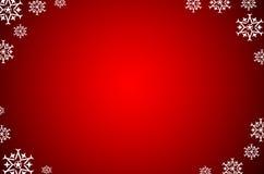 Weihnachtshintergrund mit Schnee Lizenzfreie Stockfotos
