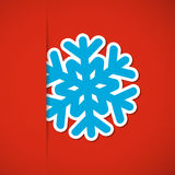Weihnachtshintergrund mit Schneeflocke Stockbild