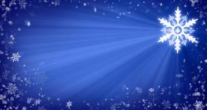 Weihnachtshintergrund mit Schneeflocken Lizenzfreie Stockfotografie