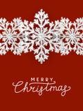 Weihnachtshintergrund mit Schneeflocken Lizenzfreie Stockfotos