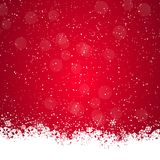 Weihnachtshintergrund mit Schneeflocken stock abbildung