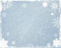 Weihnachtshintergrund mit Schneeflocken Stockfoto