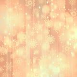 Weihnachtshintergrund mit Schneeflocken Stockfotos