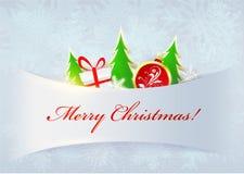 Weihnachtshintergrund mit Schneeflocken Lizenzfreies Stockbild