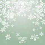 Weihnachtshintergrund mit Schneeflocken Lizenzfreie Stockbilder