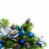 Weihnachtshintergrund mit silk Poinsettias auf Weiß, Co stockbild