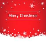 Weihnachtshintergrund mit snow Lizenzfreie Stockfotografie