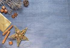 Weihnachtshintergrund mit Stern Lizenzfreies Stockbild