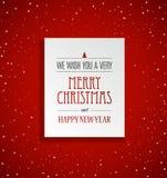 Weihnachtshintergrund mit Sternen und Aufkleber der frohen Weihnachten Lizenzfreies Stockfoto