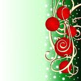 Weihnachtshintergrund mit Tannenkugeln Lizenzfreie Stockbilder