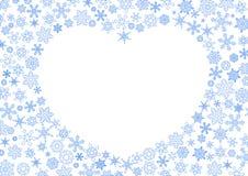 Weihnachtshintergrund mit Weiß contured Schneeflocken auf weißem Hintergrund stock abbildung