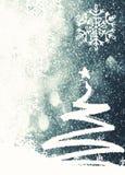 Weihnachtshintergrund mit Weihnachtsbaum Stockbild