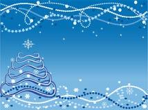 Weihnachtshintergrund mit Weihnachtsbaum Stockfoto