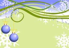 Weihnachtshintergrund mit Weihnachtskugeln Stockbild