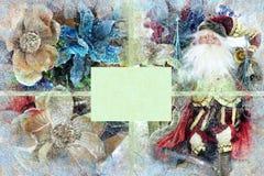 Weihnachtshintergrund mit Weihnachtsmann Lizenzfreie Stockbilder
