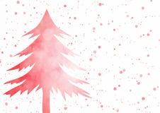 Weihnachtshintergrund - roter Weihnachtsbaum mit Scheinlicht bok Lizenzfreie Stockbilder