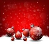Weihnachtshintergrund, rotes Hintergrund guten Rutsch ins Neue Jahr stock abbildung