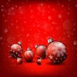 Weihnachtshintergrund, rotes Hintergrund guten Rutsch ins Neue Jahr lizenzfreie abbildung