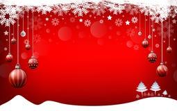 Weihnachtshintergrund, rotes Hintergrund guten Rutsch ins Neue Jahr vektor abbildung