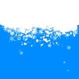 Weihnachtshintergrund - Schneeflocke Lizenzfreies Stockfoto
