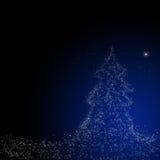 Weihnachtshintergrund: Stern von Bethlehem Lizenzfreies Stockfoto