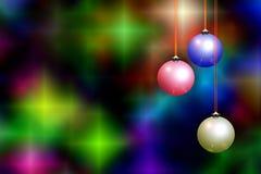 Weihnachtshintergrund u. -dekorationen lizenzfreie abbildung