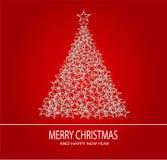 Weihnachtshintergrund und -guten Rutsch ins Neue Jahr Lizenzfreie Stockbilder