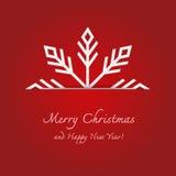Weihnachtshintergrund und -schneeflocken Lizenzfreies Stockbild