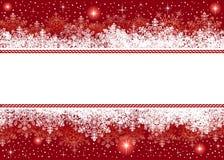 Weihnachtshintergrund von den Schneeflocken und von den Sternen Lizenzfreies Stockfoto