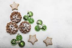 Weihnachtshintergrundanordnung Stockfoto